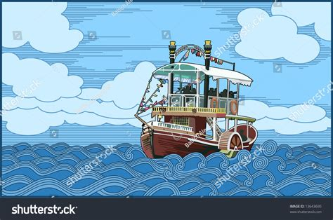 Cartoon Paddle Boat by Paddleboat Stock Vector 13643695 Shutterstock