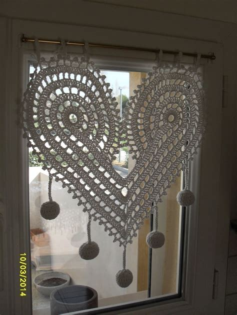 17 meilleures id 233 es 224 propos de cortinas crochet sur rideaux en crochet tejidos et