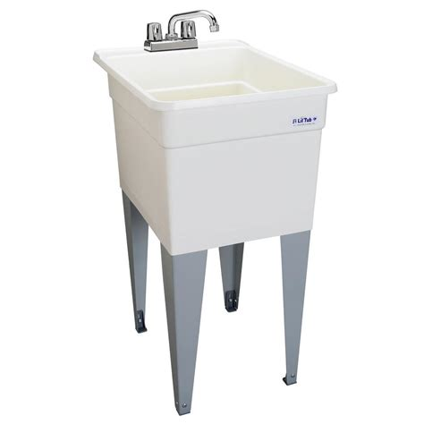 mustee vector 22 in x 25 in fiberglass self multitask sink in white 25 the home depot