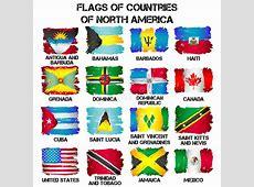 Banderas De Los Países De Norteamérica Ilustración del