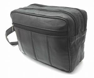 NEW MENS SOFT LEATHER TOILETRY TRAVEL WASH BAG TRAVEL KIT ...