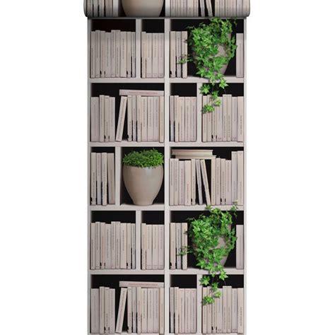 papier peint vinyle sur intiss 233 biblioth 232 que lierre 233 cru