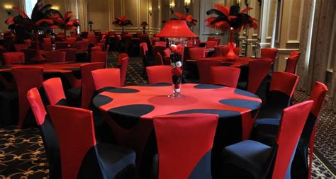 Red Formal Table Decorations Photograph   Black red table