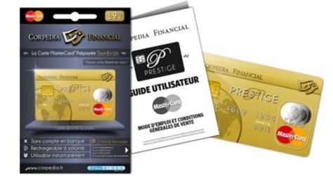 corpedia financial lance la carte de paiement pr 233 pay 233 e prestige mastercard