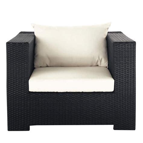 fauteuil de jardin en r 233 sine tress 233 e noir miami maisons du monde