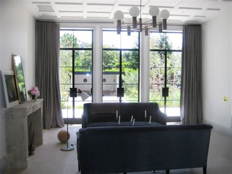 window treatments modern living room los angeles