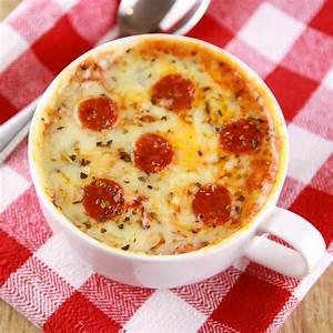 Pizza In Mikrowelle : schnelles abendessen pizza in der tasse aufl ufe pinterest pizza essen und mikrowelle ~ Markanthonyermac.com Haus und Dekorationen