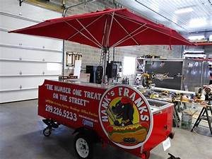 a four full size pan hot dog cart for a small price