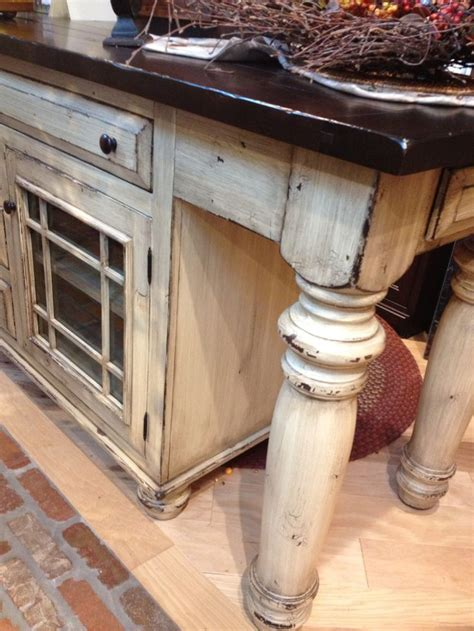 23 Best Images About Distressed Painted Kitchen Islands On