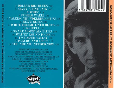 Twenty Years With Townes Van Zandt, By Harold F. Eggers