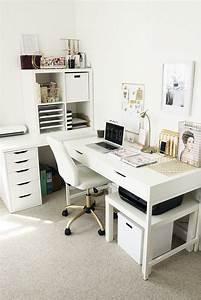Schreibtisch Kinderzimmer Ikea : office reveal pinterest schreibtisch ber eck wei es b ro und ikea schreibtisch ~ Markanthonyermac.com Haus und Dekorationen
