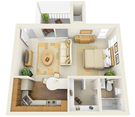tiny house floor plans small residential unit 3d floor planos de apartamentos peque 241 os de un dormitorio dise 241 os