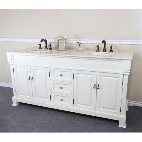 Wrought Iron Bathroom Vanities by 72 Inch Double Sink Bathroom Vanity In Cream White