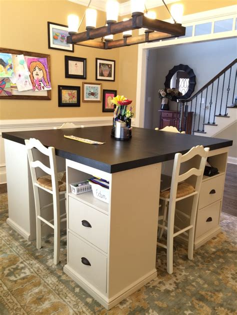 12 Awesome Diy Craft Tables With Free Plans  Shelterness. Solid Oak Chest Of Drawers. Best Under Desk Exercise Equipment. Drawer Jewelry Storage. Loan Table. Add A Drawer. Oak Study Desk. Preschool Desk And Chair. Service Desk Demo