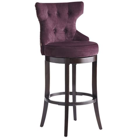 bar stools hourglass swivel barstool purple damask pier1 us furniture