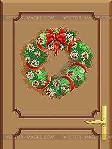 Weihnachtskranz Für Tür : t r mit einem weihnachtskranz clipart ~ Markanthonyermac.com Haus und Dekorationen