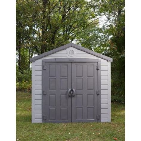us leisure keter sunterrace 6 ft x 8 ft resin outdoor storage shed 171352 the home depot