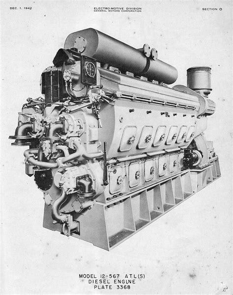 Gm 12567 Diesel Engine For Lst