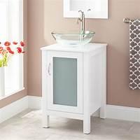 """vanities for bathrooms 19"""" Claxton Vessel Sink Vanity - White - Bathroom"""