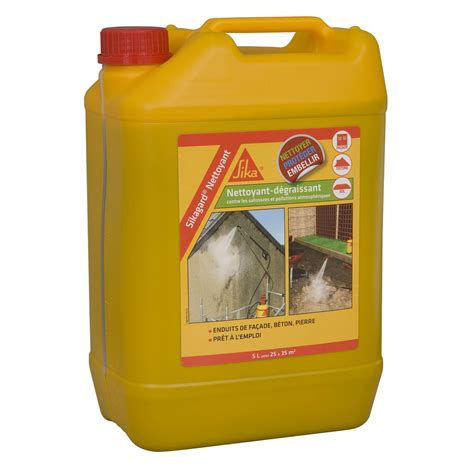 nettoyant d 233 sincrustant sika sikagard 5 l incolore leroy merlin