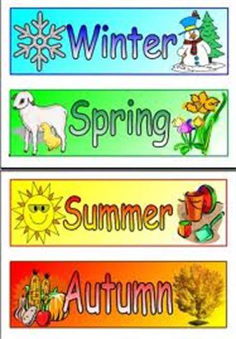 Seasons In The Uk English Lesson