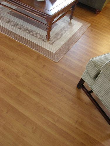 floating laminate flooring in snap and lock panels in a