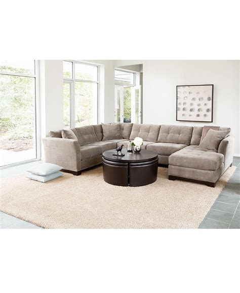 macy s elliot fabric sectional for the home