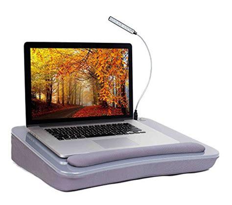 sofia sam desk with usb light silver memory foam