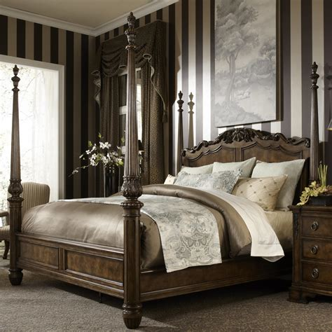 4 poster king bed king traditional antique style four poster bed