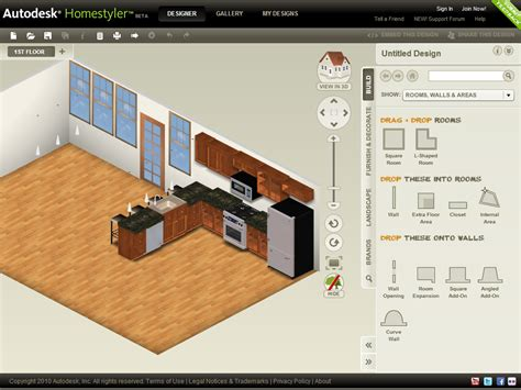 Home Design Online For Free : Autodesk Homestyler