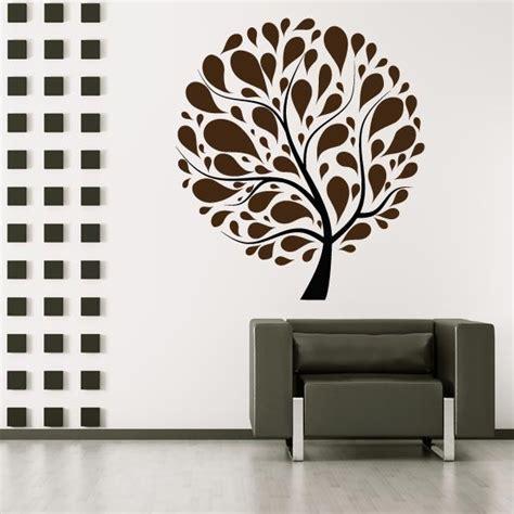 retro circle tree wall sticker mural wall decal world