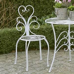 Einzelbett Metall Weiß : 2tlg gartenstuhl set nostalgie wei aus metall romantisch verzierte st hle ~ Markanthonyermac.com Haus und Dekorationen