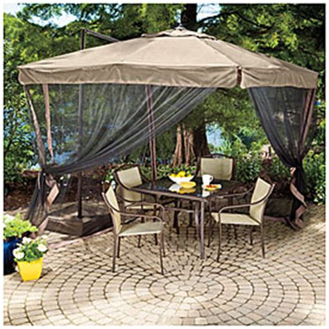 wilson fisher 8 5 x 8 5 square offset umbrella with netting big lots