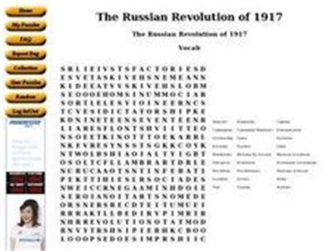 The Russian Revolution Of 1917 6th  8th Grade Worksheet