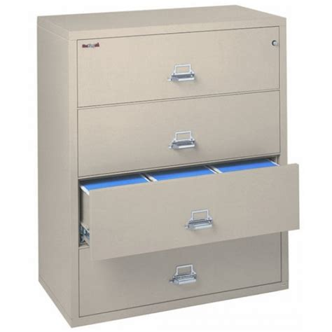 4 Drawer Fireproof File Cabinet by Fireking 4 4422 C 4 Drawer Lateral Filing Cabinet Ul 1