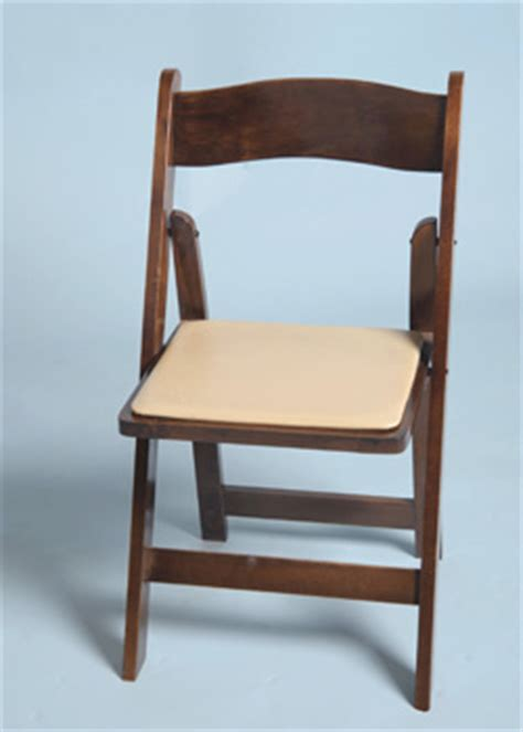 folding chair all occasion with cushion fruitwood arizona rental sw events and rentals inc