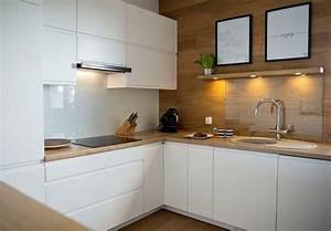 Ikea Arbeitsplatte Eiche : moderne k chen in eiche arbeitsplatte wandverkleidung weisse fronten k chen pinterest ~ Markanthonyermac.com Haus und Dekorationen
