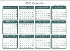 2015 Calendar Free Printable 2015 Calendar Free Calendar