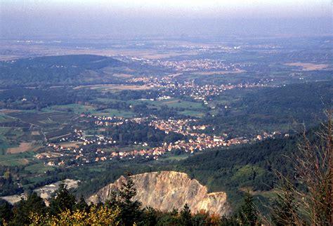 alsace fiche du circuit de randonn 233 e le mont sainte odile par le landsberg