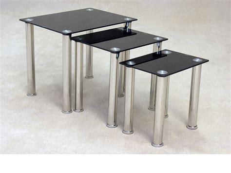 Togo Black Glass Nest Of Tables