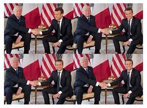 Macron wins Handshake Battle with Trump - AzBilliards.com