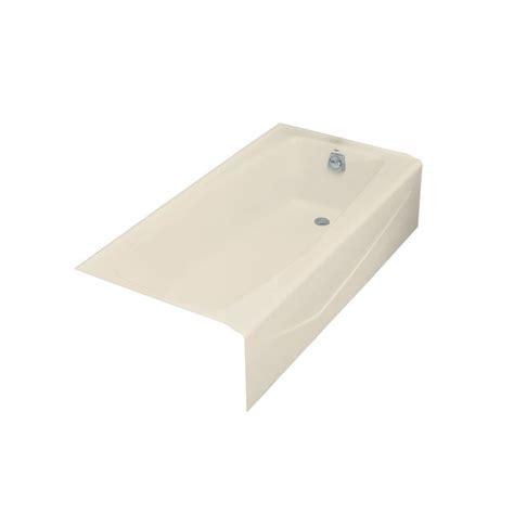 kohler villager 5 ft right drain cast iron bathtub