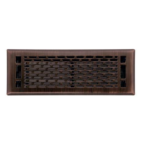 shop allen roth manhattan rubbed bronze steel floor