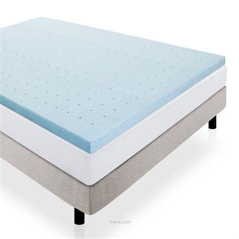 memory foam mattress lucid 2 inch gel infused ventilated memory foam mattress