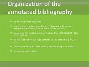 Week 4 annotated bibliography