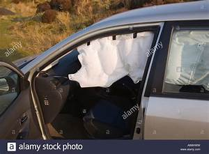 Toyota Corolla with near side SRS curtain airbag inflated ...