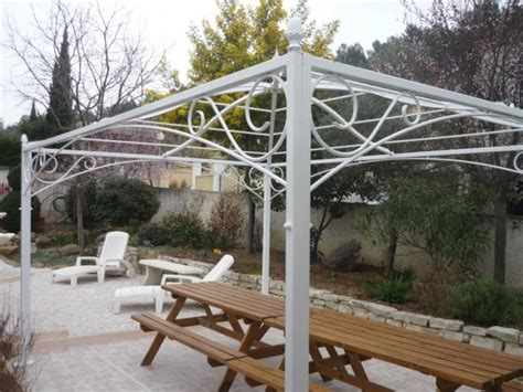 tonnelle sur mesure en fer forg 233 pour terrasse ou jardin la ferode