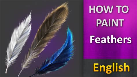 How To Paint In Photoshop  Feathers  Youtube