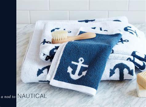 a nod to nautical nautical bath nautical and towels