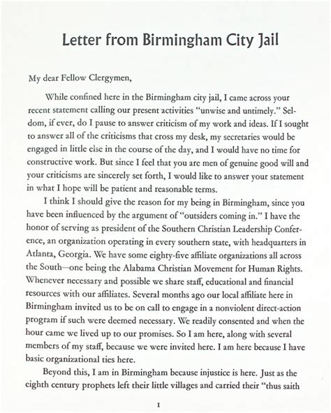 Letter From Birmingham City Jail  Limited Editions Club